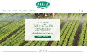 Website Design Green Hemp