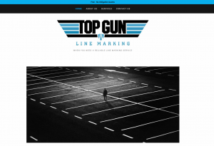 Website Design TopGun Line Marking